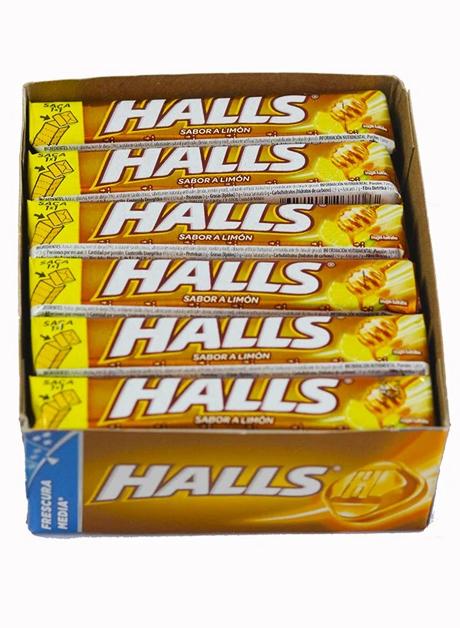HALLS MIEL 12P/25.2GRS
