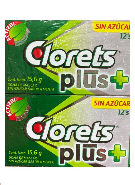CLORETS PLUS 12´2 12P/15.6G